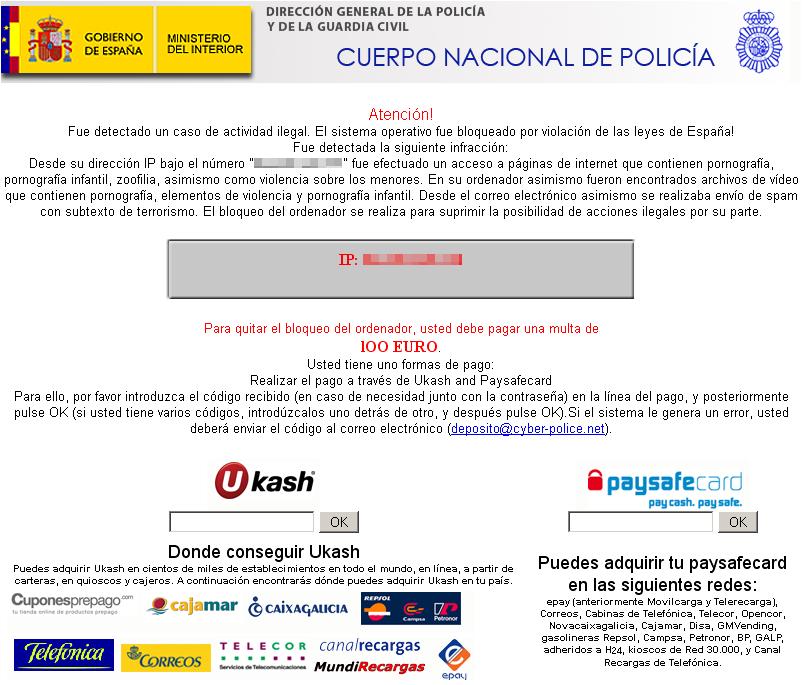 Estafa polic a nacional 100 euros catatoonics for Ministerio del interior policia nacional