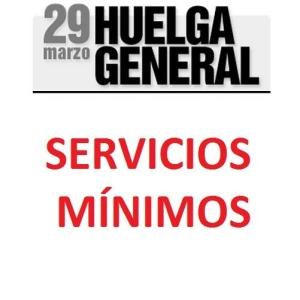 Servicios mínimos del transporte público de la Comunidad de Madrid para la huelga general del 29 de Marzo del 2012