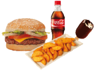 Menú hamburguesa individual Telepizza