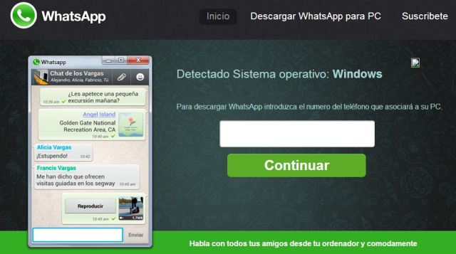 Whatsapp PC Introducir movil