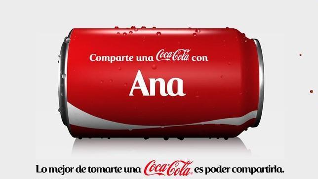 Tu nombre en una Coca Cola (1/2)